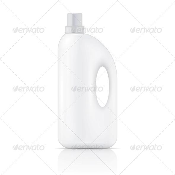 GraphicRiver White Liquid Laundry Detergent Bottle 6682687