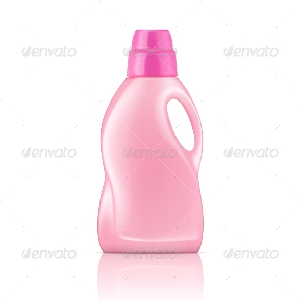 GraphicRiver Pink Liquid Laundry Detergent Bottle 6682692