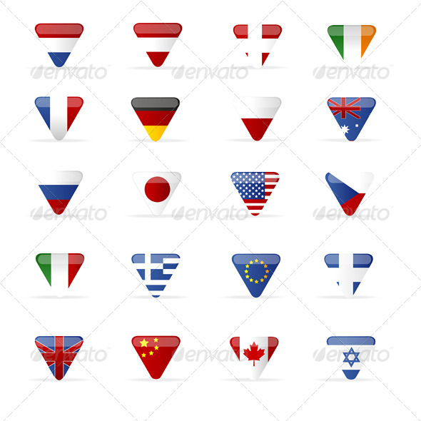 GraphicRiver Vector World Flags Triangle 6683615