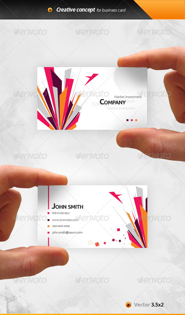 GraphicRiver Market Business Card 6683721