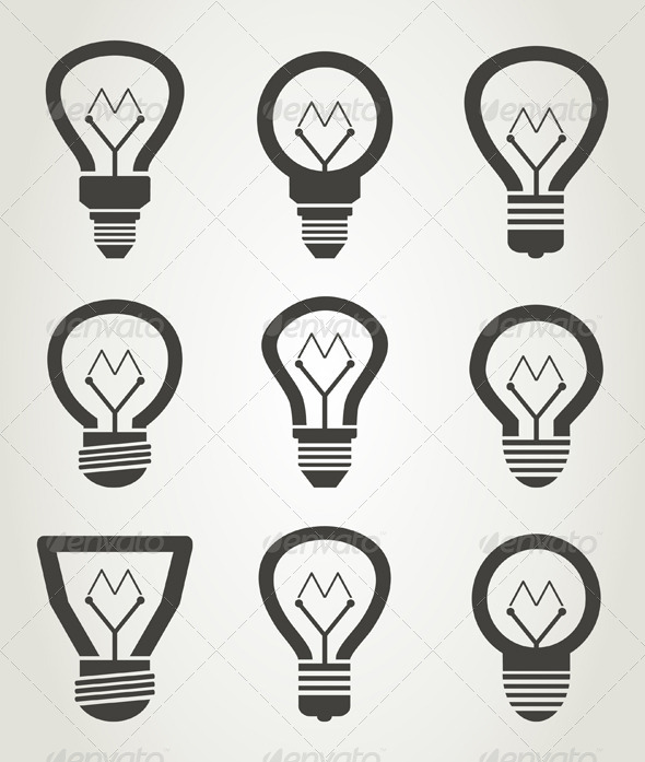 GraphicRiver Bulb Icons 6683723