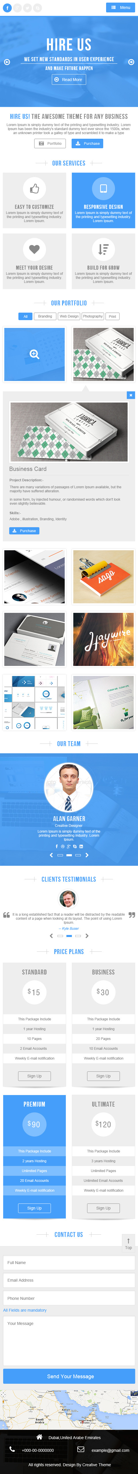 Hire Us - Multi-Purpose Landing Page