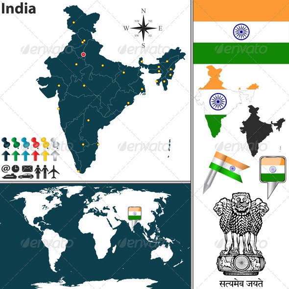 GraphicRiver Map of India 6684048