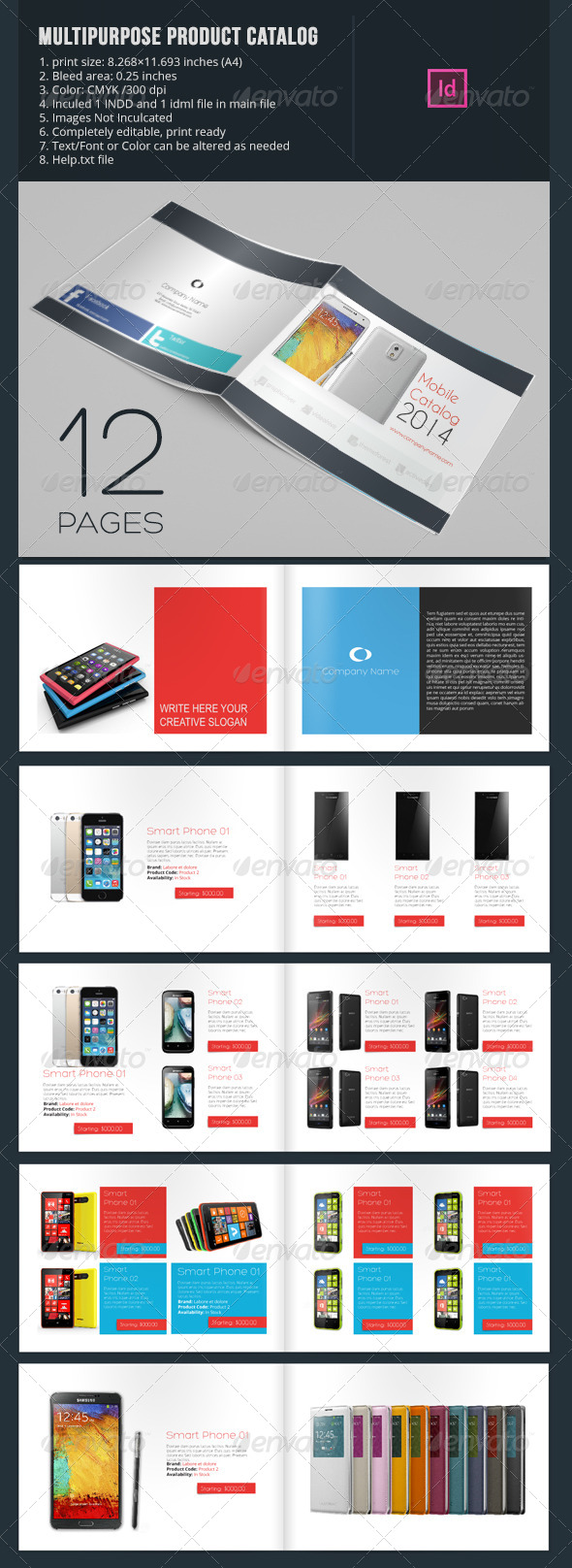 GraphicRiver Multipurpose Product Catalog 12 Pages 6684291