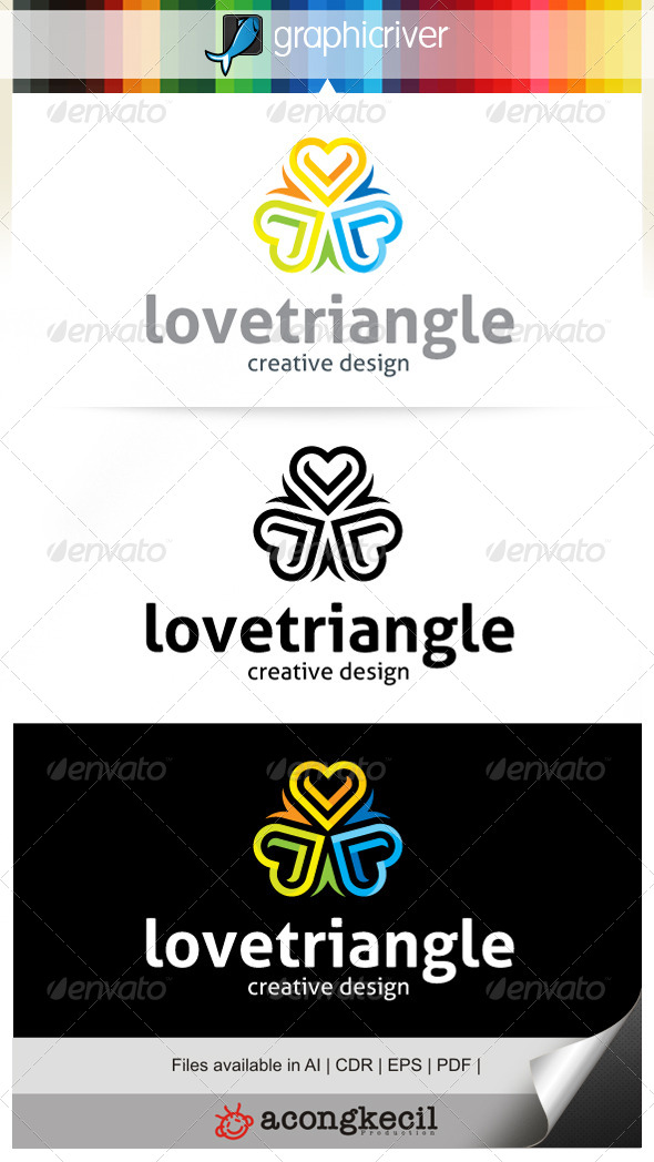 GraphicRiver Love Triangle V.2 Logo Template 6684397