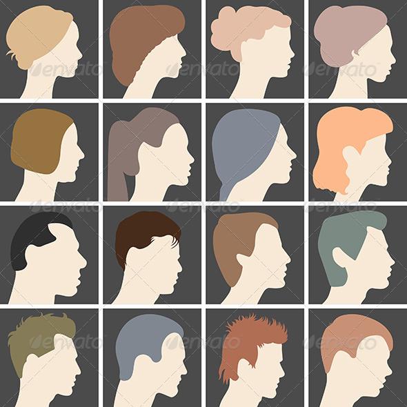 GraphicRiver Profiles of Faces 6684413