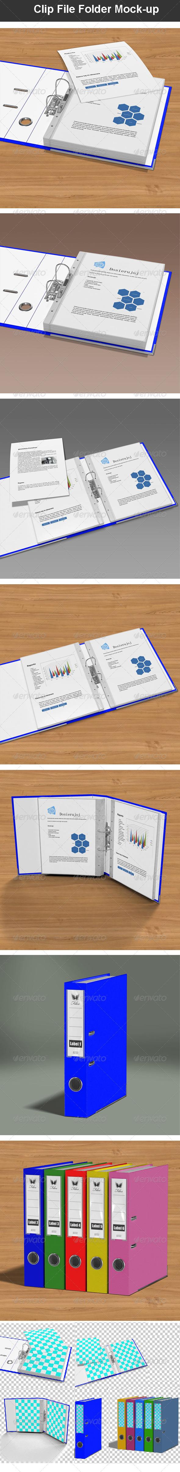 GraphicRiver Clip File Folder Mock-up 6684452