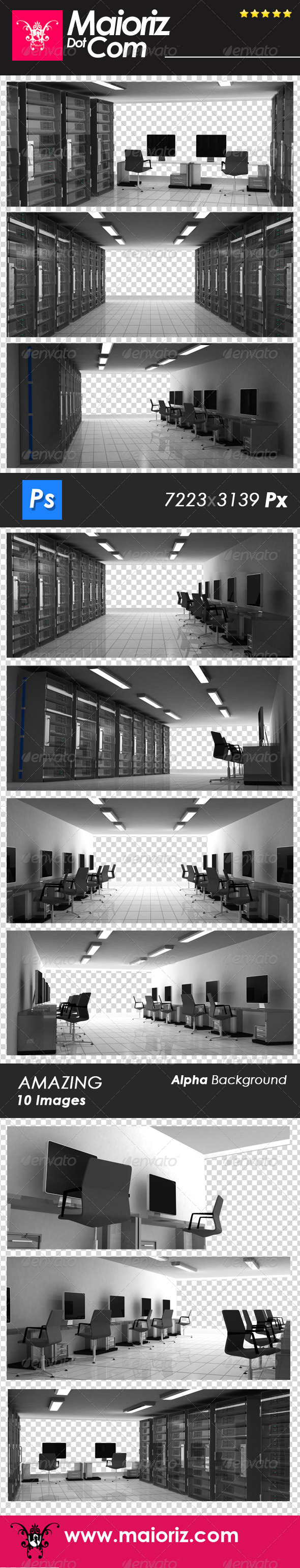 GraphicRiver Business Server Room 6684638