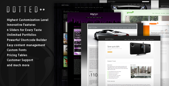 Dotted - Innovative WordPress Theme - ThemeForest Item for Sale
