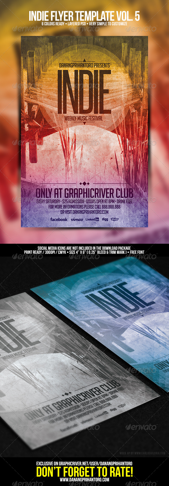 GraphicRiver Indie Flyer Template Vol 5 6685434