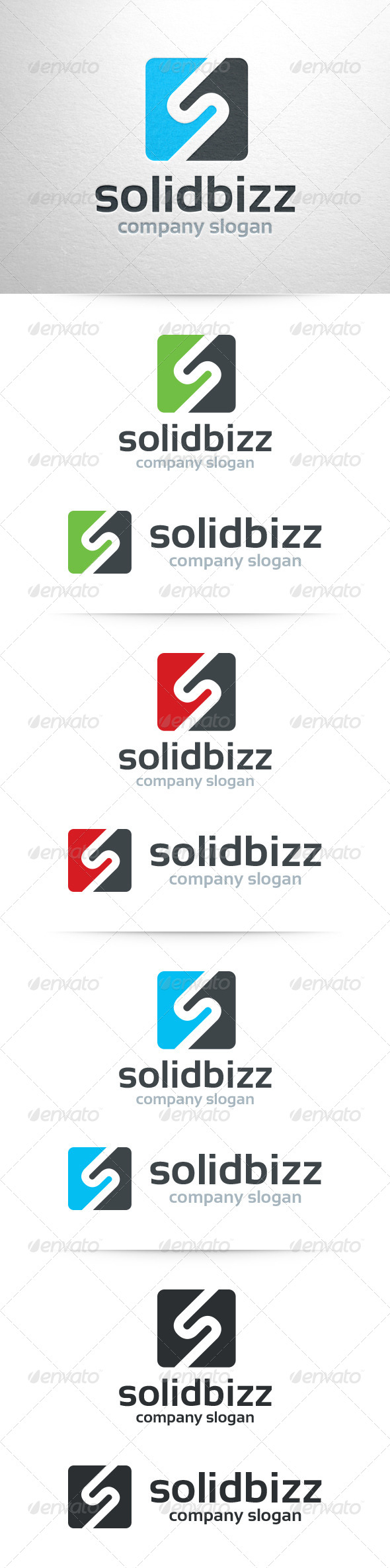Solid Bizz - Letter S Logo - Letters Logo Templates