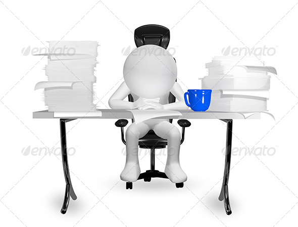 GraphicRiver man at the table 6685940