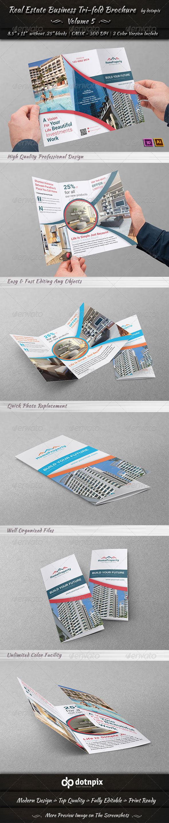 GraphicRiver Real Estate Business TriFold Brochure Volume 5 6685995