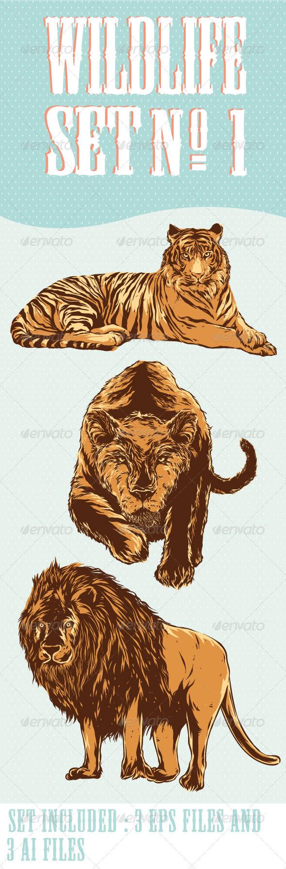GraphicRiver Wildlife Set No.1 6686572