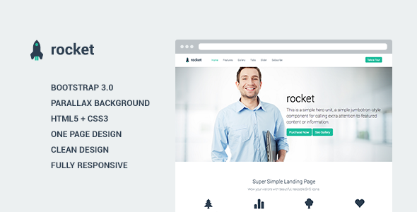 Rocket - Landing Page Template