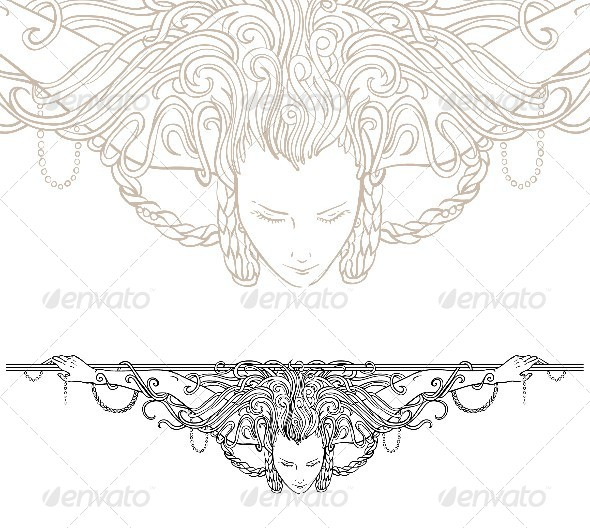 GraphicRiver Vignette Divider with Woman 6687032