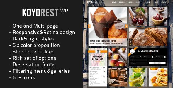 ThemeForest Koyorest Responsive Retina WordPress Theme 6687693
