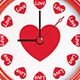 Clock with Hearts - GraphicRiver Item for Sale