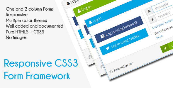 CodeCanyon CSS3 Responsive Forms Pack 6687784