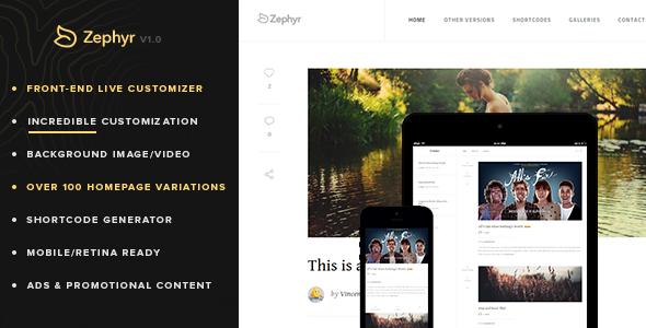 ThemeForest Blog Like a Pro Zephyr 6630175
