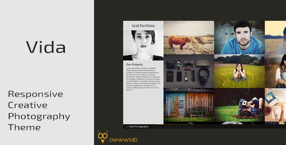 ThemeForest Vida Responsive Creative Photography Template 6688170
