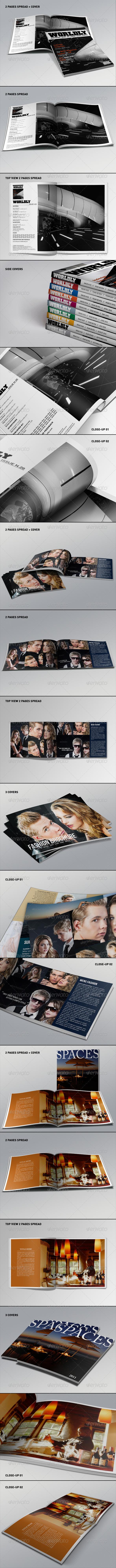 Realistic Magazine Mockups Bundle