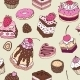 Cake. Seamless background. - GraphicRiver Item for Sale