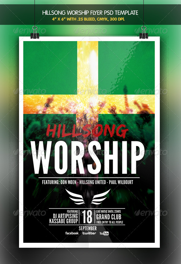 GraphicRiver Hillsong Worship Christian Night 6688352
