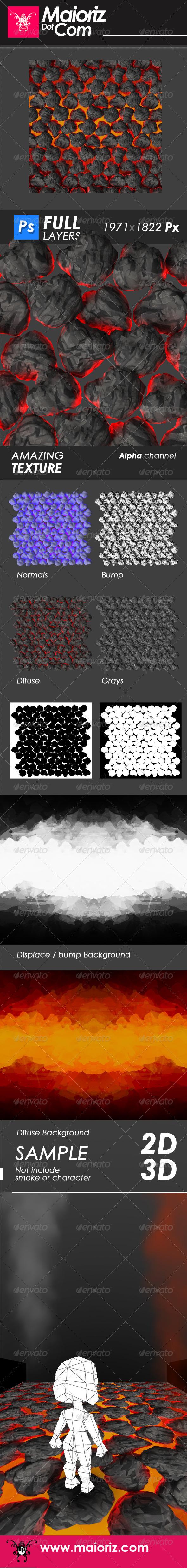 GraphicRiver Fire Rocks Texture 6688686
