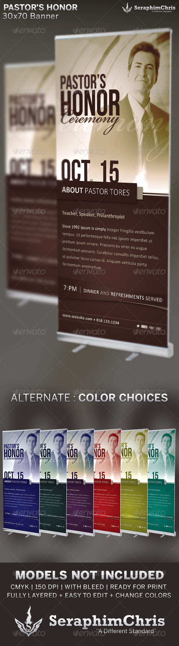GraphicRiver Pastor s Honor Church Banner Template 6688699