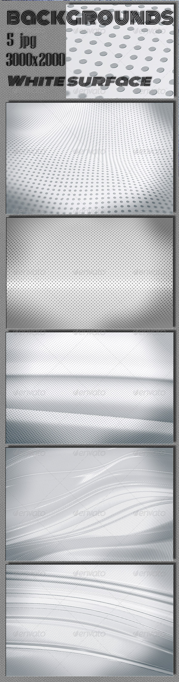 GraphicRiver Web White Surface Backgrounds 6689043