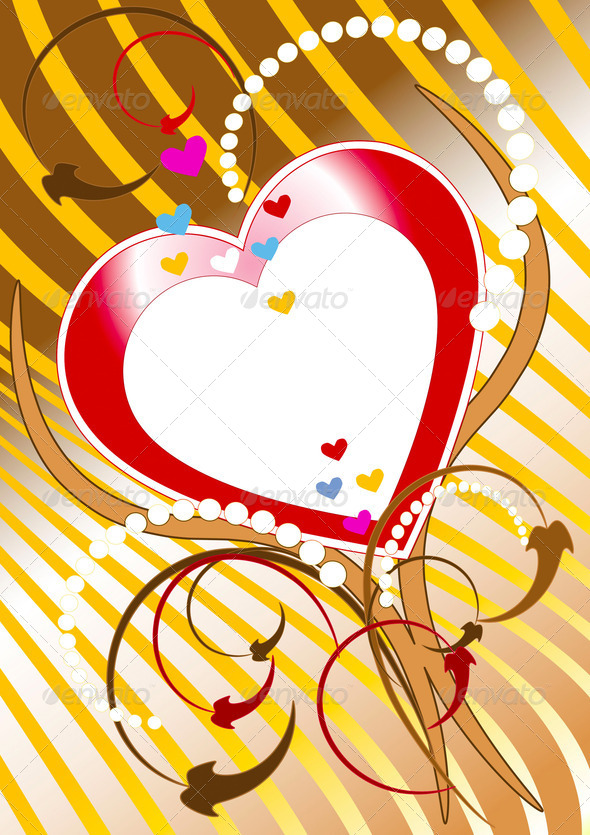 Postkard of Congratulation  Valentine day - Stock Photo - Images