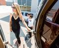 Beautiful Woman In Dress Boarding Private Jet - PhotoDune Item for Sale