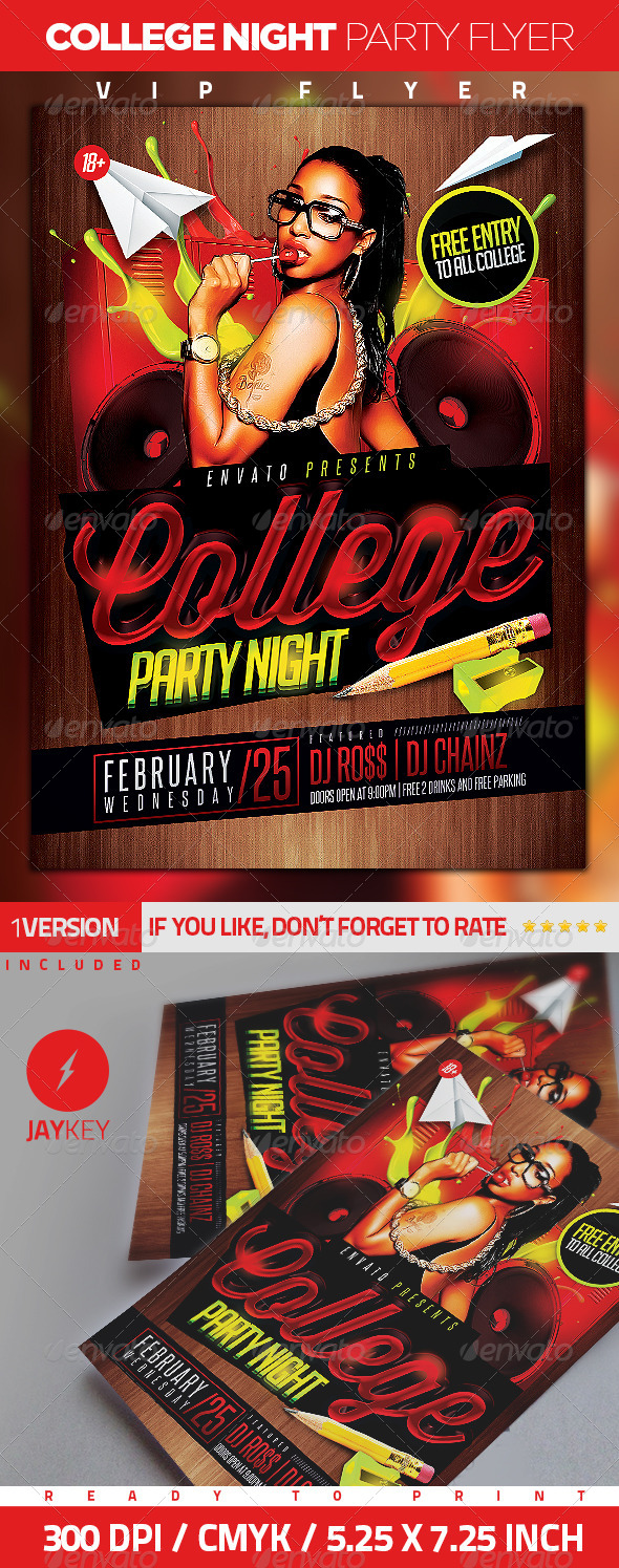 college night party flyer graphicriver