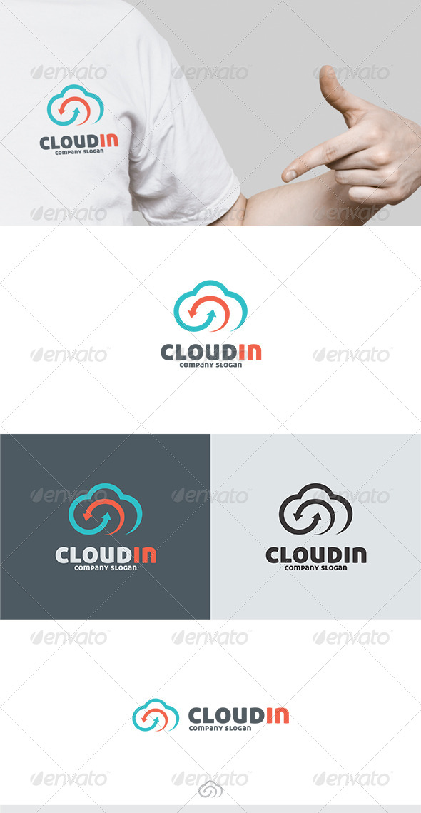 GraphicRiver Cloudin Logo 6689335