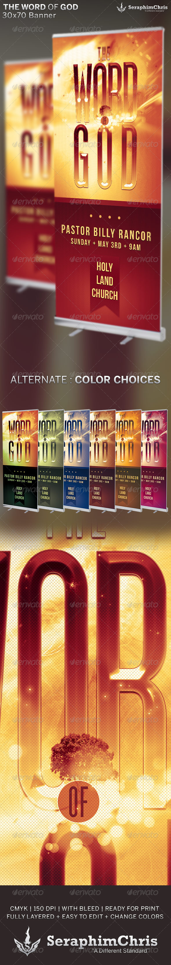 GraphicRiver The Word of God Church Banner Template 6689465