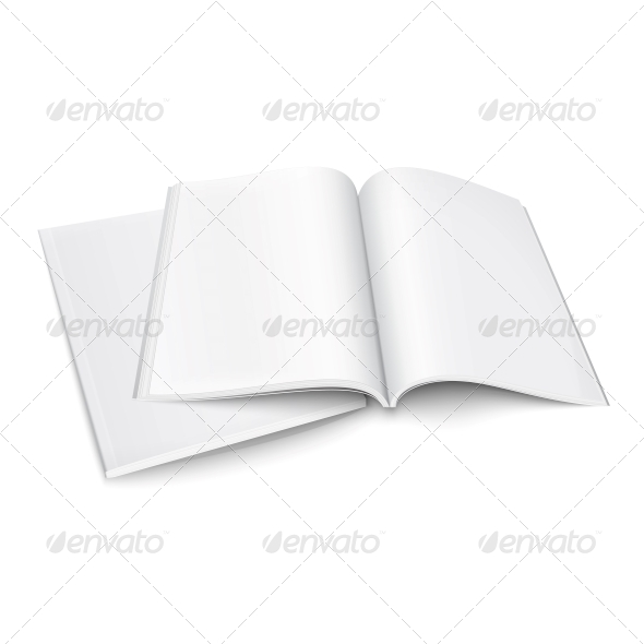 GraphicRiver Couple of Blank Magazines Template 6689591