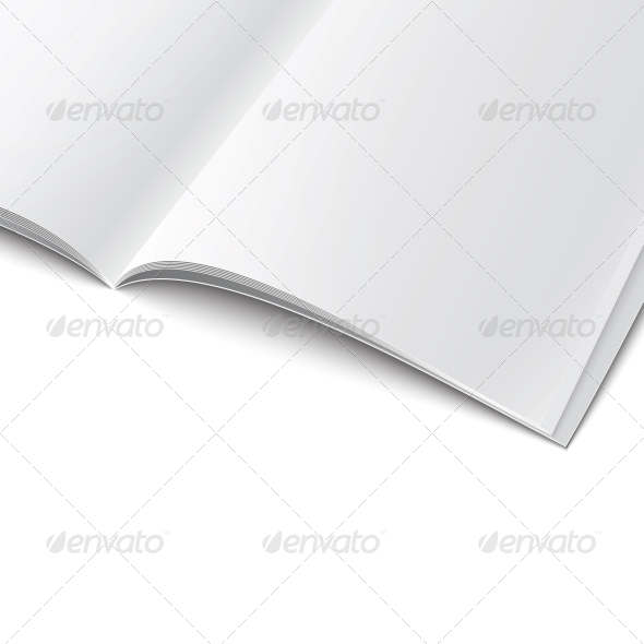 GraphicRiver Close-Up of Blank Magazine Template 6689595