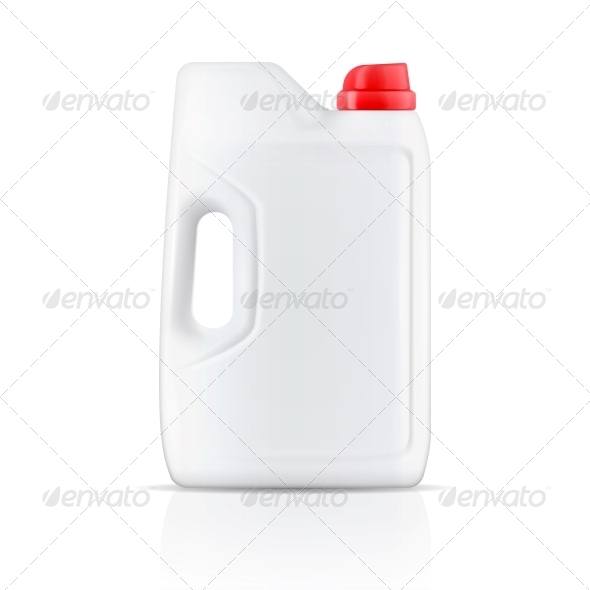 White Laundry Detergent Powder Container