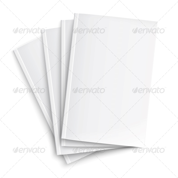 GraphicRiver Stack of Blank Magazines Template 6689602