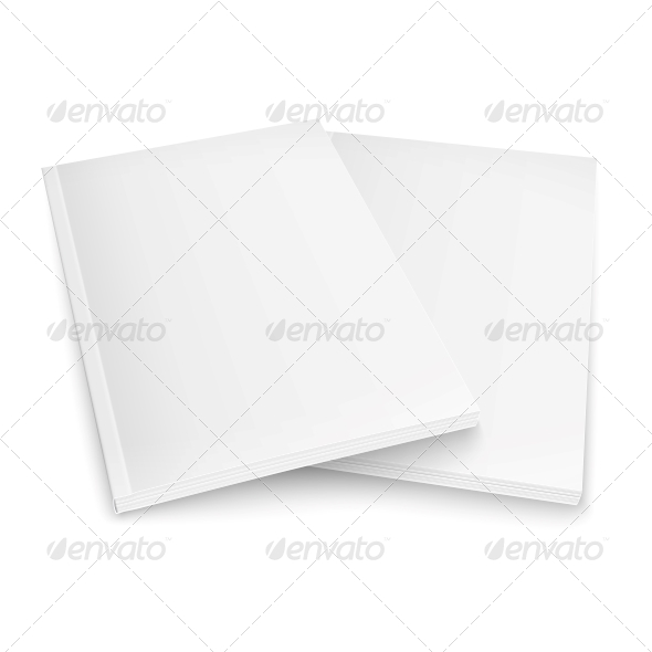 GraphicRiver Couple of Blank Magazines Template 6689604