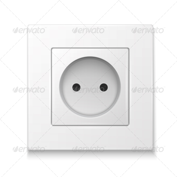 GraphicRiver White Socket Outlet 6689608