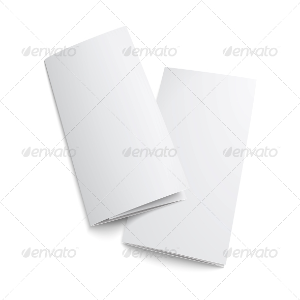 GraphicRiver Couple of Blank Trifold Paper Brochure 6689615