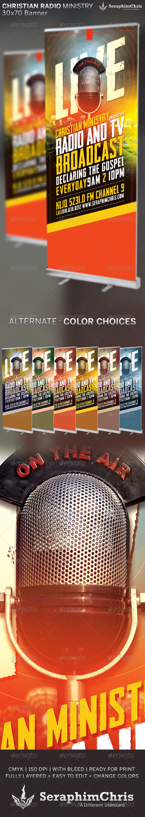 GraphicRiver Christian Radio Ministry Banner Template 6689761