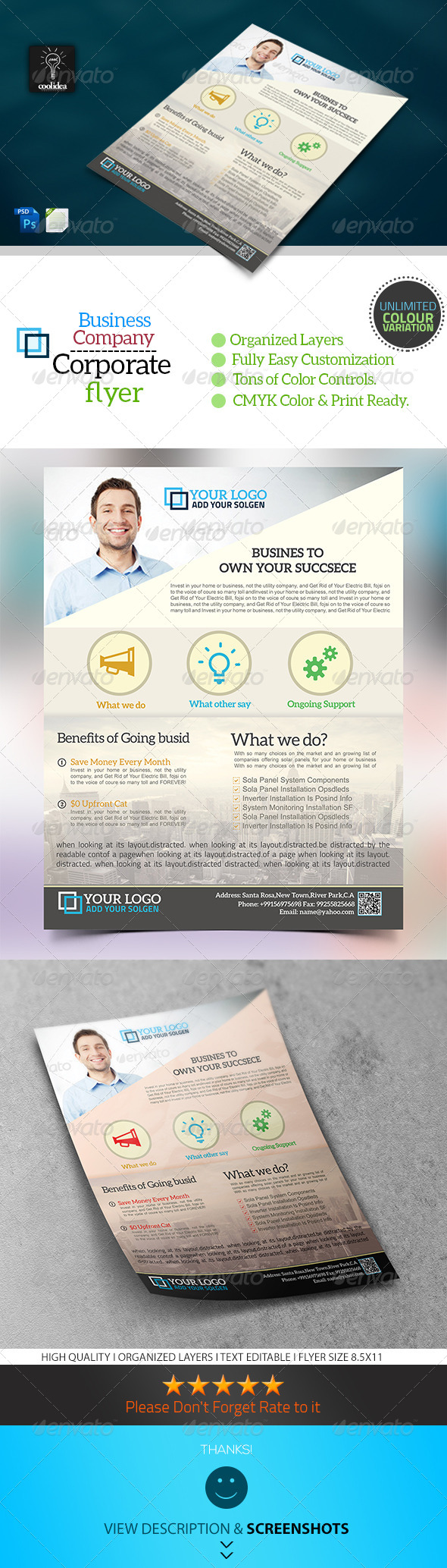 Corporate Flyer Template Business Vol01