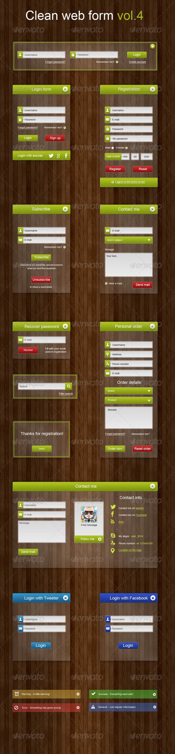 GraphicRiver Clean Web Forms Vol.4 6691352