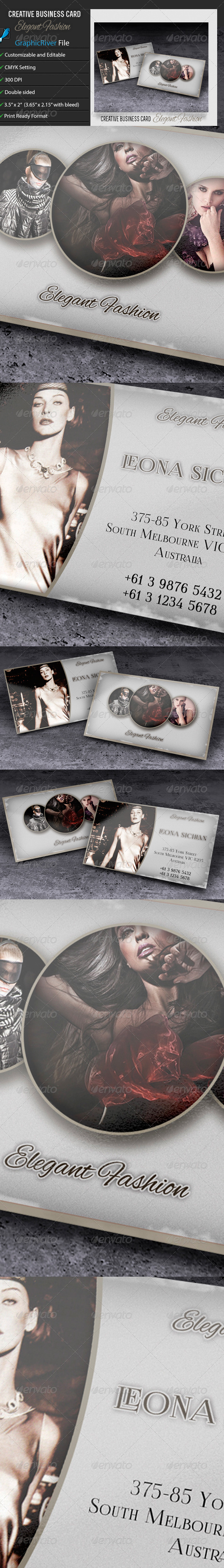GraphicRiver Business Card Elegant Fashion 6691708