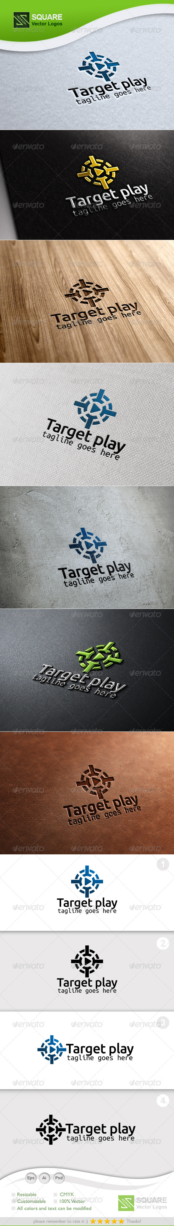 GraphicRiver Target Play Vector Logo Template 6691840