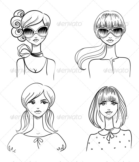 GraphicRiver Fashionable Girls 6691869