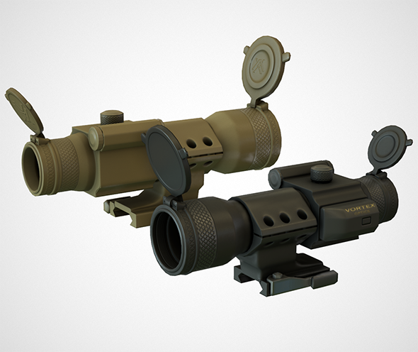 Red Dot Scope - 3DOcean Item for Sale